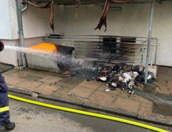 Mülltonnenbrand – Langenholtensen, Dünenangerstraße